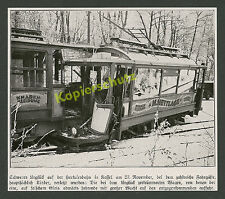 Herkulesbahn Kassel Unfall Druseltal Straßenbahn Trambahn Reklame Hettlage 1927