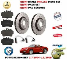 13243 FRONT BRAKE DISCS AND PADS FOR PORSCHE BOXSTER 2.7 11//2004-8//2009