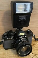Yashica Camera FX3 w/ 50mm f/2.0 Lens ML Case Flash: Sony Cannon Classic Quality