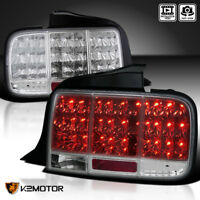 2005-2009 Mustang Euro LED Sequential Turn Signal Tail Light Brake Lamp Chrome
