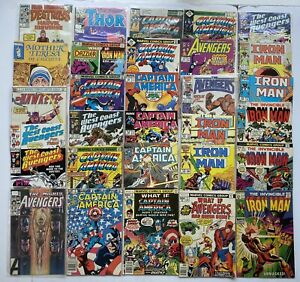 Vintage Marvel Iron Man Captain America And More Silver - Bronze Age Lot Of 30