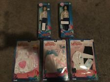 2 LITTLE MERMAID ERIC DOLLS/2 OUTFITS/DRESSES, BARBIE LIKE, TYCO, NO WHITE DRESS