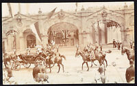 Horses Parade The King at Sheffield Photo Photographic Postcard RPPC Yorkshire