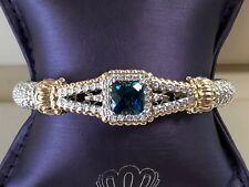 Alwand Vahan London Blue Topaz Bracelet 14K Gold & SS 0.46ct Style # 22353DLBT08
