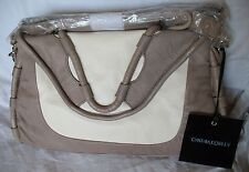 Cynthia Rowley Purse New Handbag Calloway Gray White Crossbody Leather Ash Color