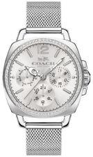 Coach Silver Stainless Mesh Strap Crystal Boyfriend Women's Watch 14502489 $295