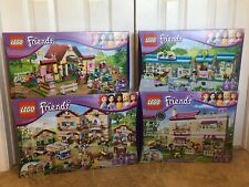 LEGO Friends Lot 3185, 3188, 3189, 3315 Riding Camp, Vet, Stable, Olivia's House