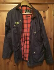 Barbour Men's Casual Jacket, blue mid-weight cotton, size Med,