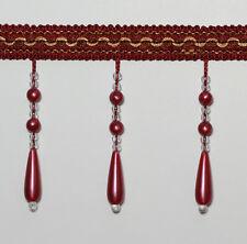 Zopf Perlen Aufgereiht Fransen Kappsäge #5 Farbe : Weinrot