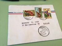 Republic Gabonaise  to France Airmail stamps Cover Ref 51438