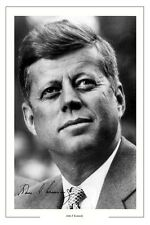 JOHN F KENNEDY AUTOGRAPH SIGNED PHOTO PRINT USA PRESIDENT POTUS UNITED STATES
