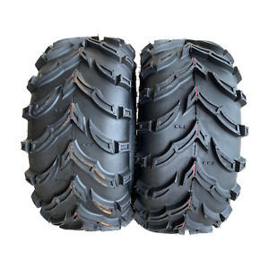2 new 25x10-12 K9 ATV directional traction tires off road 6ply 25x10.00-12