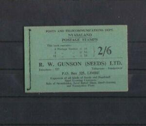 Nyasaland 1954 2/6 Stitched Booklet MNH per scan