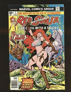 Red Sonja # 1 - Frank Thorne cover & art NM- Cond.