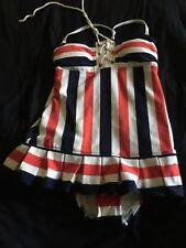Juicy Couture Striped 1pc Swimdress size XS