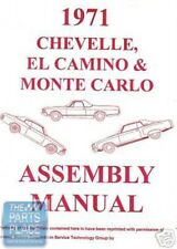 1971-71 Chevrolet Chevelle Assembly Manual Each