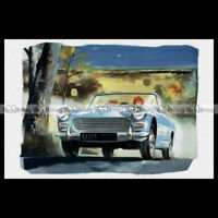 #pha.000608 Photo AUSTIN HEALEY SPRITE 1962 ARTISTIC PICTURE Auto Classic Car