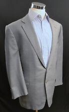ERMENEGILDO ZEGNA 2 BTN 100% Wool Blazer Sport Coat 46R Blue Windowpane
