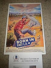 "CHEECH AND CHONG ,PAUL RODRIGUEZ SIGNED ""BORN IN EAST LA"" 11X17 MINI POSTER psa"