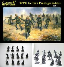 WWII German Panzergrenadiers - Set 1  - Caesar Miniatures H052- 1/72 Scale