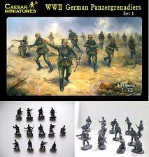 WWII German Panzergrenadiers - Set 1  - Caesar Miniatures H052- 1/72 Scale