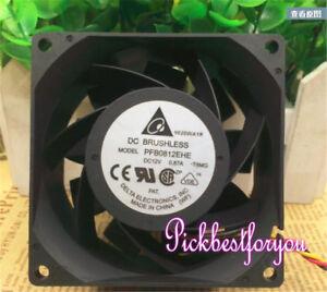 1PC Delta PFB0812EHE 12V 0.87A 8cm 8038 3-wire cooling fan #M162B QL
