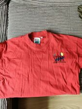 Space Ibiza Beach Club Logo Men's T shirt red small