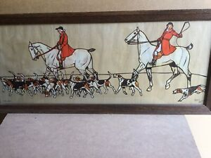 """Cecil Aldin Hunting Print """"The Whip"""""""