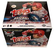 2018 Topps Series 1 Baseball Cards Jumbo Box with 500 Cards