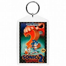 Sega Genesis Sonic the Hedgehog 2  Video Game Box Cover KEYCHAIN   NEW !!!