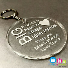 Personalised Teacher Gift End Of Term Leaving Present Keyring