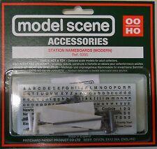 Modelscene Accessories 5095 - Station Nameboards (Modern) (00) - Railway Models