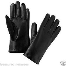 ISO Isotoner Ladies Leather Gloves ~ Size 8 ~ Black ~ NWT MSRP $48.00