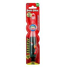 FIREFLY Angry Birds Kids Child Flashing Light Up Toothbrush + 1 Min Timer BLACK
