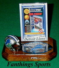 Detroit Lions NFL Sports Card Display Holder Helmet Logo Gift