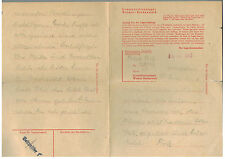 1945 Germany Buchenwald Concentration Camp Letter Fritz Polak KZ