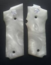 RESIN WHITE PEARL SMITH AND WESSON 59 HANDCRAFT HANDMADE GRIPS PISTOL