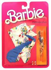 Vintage 1984 Barbie Fashion Fun Clothing - Swimsuit & Matching Wrap #7908, New