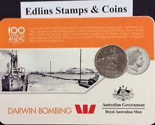 2016 Westpac RAM 20 cent coin - Darwin bombing