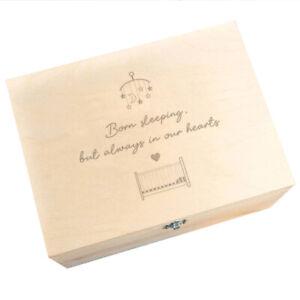"""Born Sleeping, But Always In Our Hearts"" Baby Loss Memorial Keepsake Memory Box"
