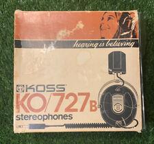 NEW KOSS KO-727 B VINTAGE ORIGINAL PROFESSIONAL STEREOPHONES HEADPHONES KOSS