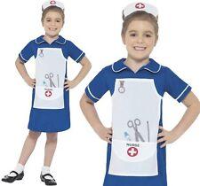 Bambini Ragazze FANCY DRESS WW1 vintage INFERMIERE Libro Giorno Costume Kids Vestito Nuovo