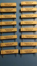 13R high wattage wire wound ceramic resistors, used,  (8 pieces)
