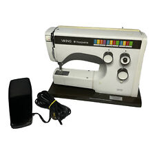 Husqvarna Viking 6360 Sewing Machine w/ Foot Pedal Power Cord & Case TESTED