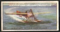 Nieuport Hydro Monoplane  Avaiton History 100+ Y/O  Trade Ad Card