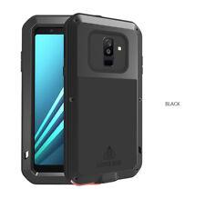 For Samsung A5 A6 A8 Plus 2018 LOVEMEI Gorilla Glass Aluminum Metal Case Cover
