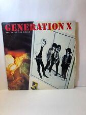 "Generation X ""Valley Of The Dolls"" Lp Chrysalis Pv 4193 Rock"