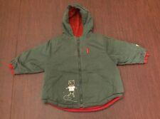 Baby Mini Catimini Boys Girls Green Cat Jacket Coat Size 12 Months