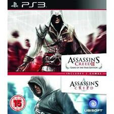 Assassin's Creed 1 And 2 Ubisoft Double Pack PS3 PlayStation 3 Very Good 5Z