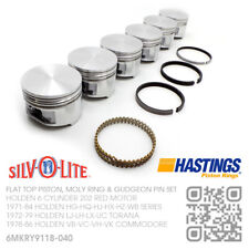"""202+040"""" FLATTOP PISTON/MOLY RINGS 6 CYL 3.3L MOTOR HOLDEN VB-VC-VH-VK COMMODORE"""